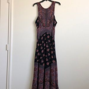 FREE PEOPLE STRAPPY CUTOUT FLORAL MAXI 6